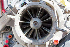 Mechanic parts of the old turbine engine Royalty Free Stock Image