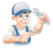 Mechanic or Plumber Illustration Stock Photography