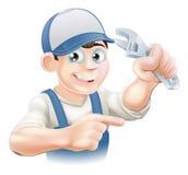 Mechanic or Plumber Illustration Stock Photography