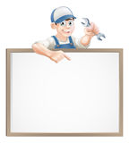 Mechanic or plumber sign Stock Photo