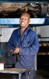 Mechanic portrait stock photo