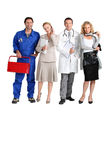 Mechanic, receptionist, doctor and hairdresser. Stock Photography