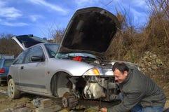 Mechanic repair car Royalty Free Stock Image