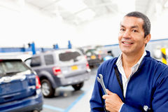 Mechanic at a repair shop Royalty Free Stock Photo