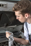 Mechanic repairing Royalty Free Stock Image
