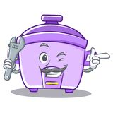 Mechanic rice cooker character cartoon Royalty Free Stock Photography