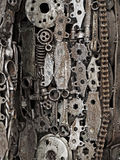 Mechanic scrap. Welded together as one object Royalty Free Stock Image