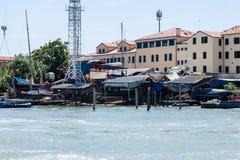 Boat Mechanic in Venice Royalty Free Stock Photo