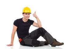 Mechanic showing thumb up Stock Photography