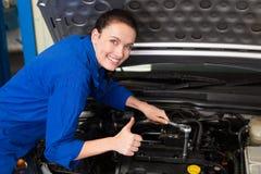 Mechanic smiling at the camera Royalty Free Stock Photos