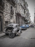 Mechanic in a street of old Havana Stock Photos