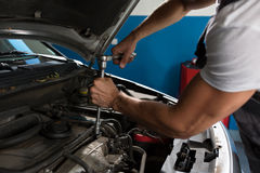 Mechanic strong hand Royalty Free Stock Images