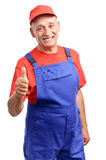 Mechanic thumb up Royalty Free Stock Images