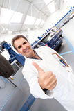 Mechanic with thumbs up Royalty Free Stock Photography