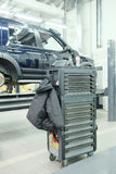 Mechanic tool box. The image of a mechanic tool box stock images