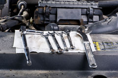Mechanic tools. A set of mechanic tools Royalty Free Stock Photos