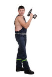 Mechanic with tools Stock Photo