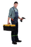 Mechanic with tools Stock Images