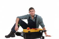 Mechanic with tools Stock Photography