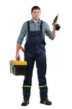 Mechanic with tools Stock Photos
