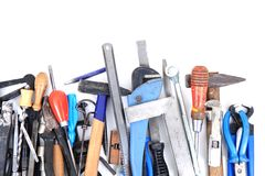Mechanic tools from repairman Royalty Free Stock Photography