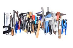 Mechanic tools from repairman Stock Photo