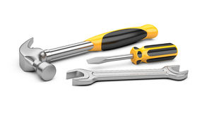 Mechanic tools set Royalty Free Stock Images