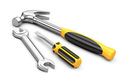 Mechanic tools set Stock Image