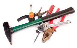 Mechanic tools set Stock Photo