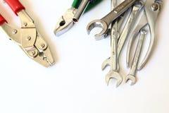 Mechanic tools set isolated Royalty Free Stock Photography