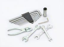 Mechanic tools  on white background Stock Photography