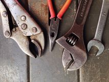 Mechanic tools Stock Photo