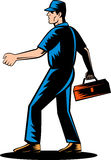 Mechanic tradesman extending hand Royalty Free Stock Photography