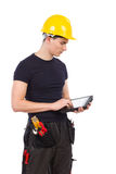 Mechanic using a digital tablet Stock Photography