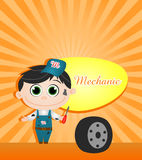 Mechanic vector illustration. On colorfull background Royalty Free Stock Photos