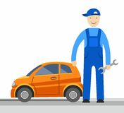 Mechanic, vector picture. Royalty Free Stock Photo