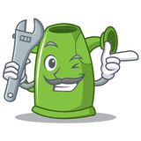 Mechanic watering can character cartoon Royalty Free Stock Photo