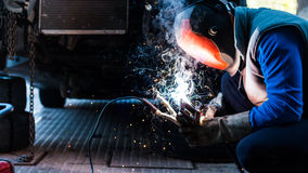Mechanic welding Royalty Free Stock Images