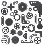 Mechanic wheels and gears  isolated Stock Photography