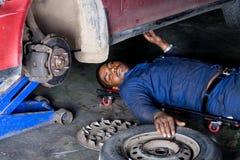 Mechanic at work Royalty Free Stock Photos