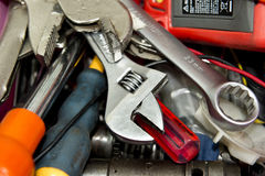 Mechanic work tools Royalty Free Stock Photo