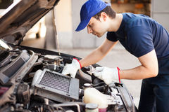 Mechanic at work Stock Photography