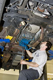 Mechanic working stock images