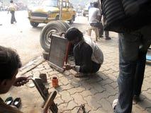 Mechanic at workshop Royalty Free Stock Photos