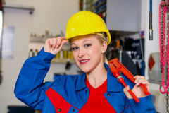 Mechanic in workshop Stock Photography