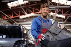 Mechanic in a workshop Royalty Free Stock Image