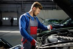 Mechanic in a workshop Stock Photos