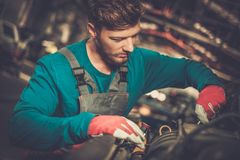 Mechanic in a workshop Stock Image