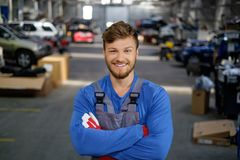 Mechanic in a workshop Stock Photography