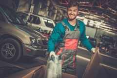 Mechanic in a workshop Royalty Free Stock Photography